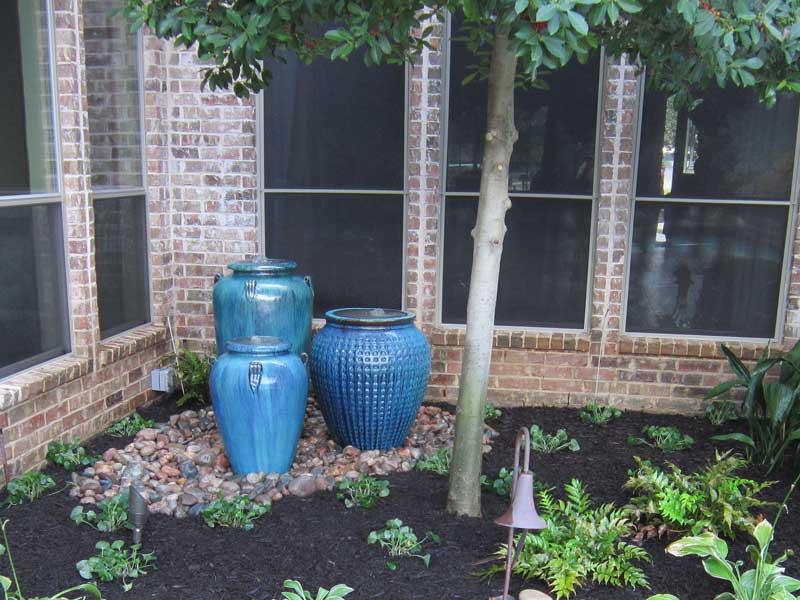 Fountain 3 Blue Aqua Pots