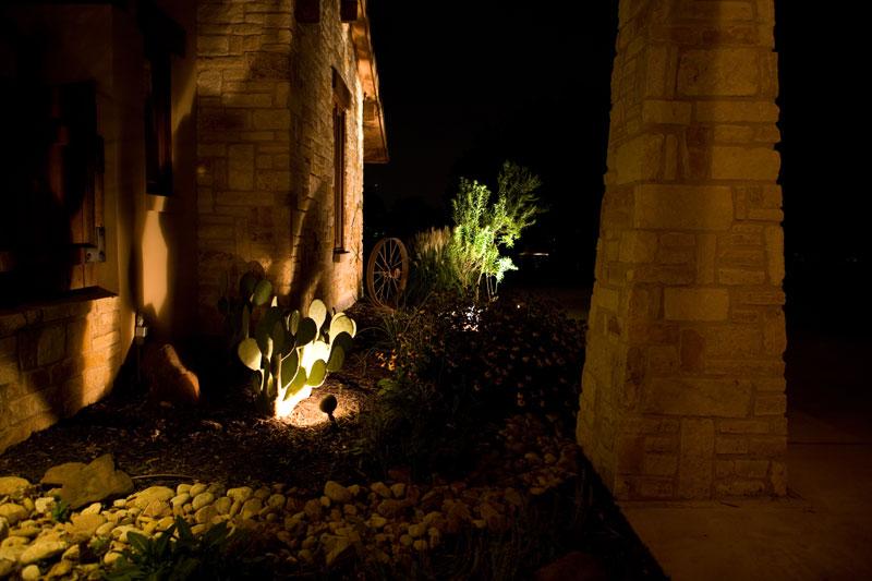 Wolf Landscape Lighting yard
