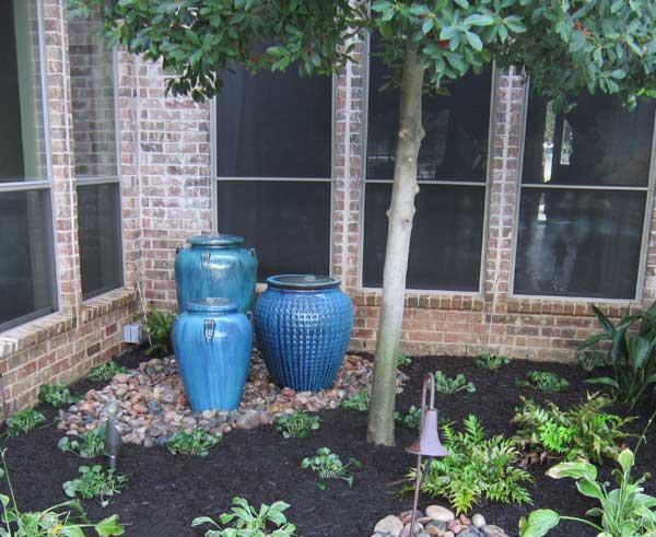 Fountain Aqua Blue pots