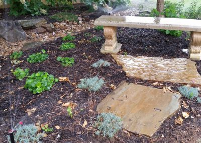 Water Feature Bench