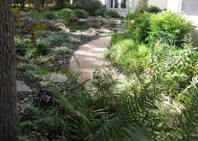Path to Pond Sitting Area