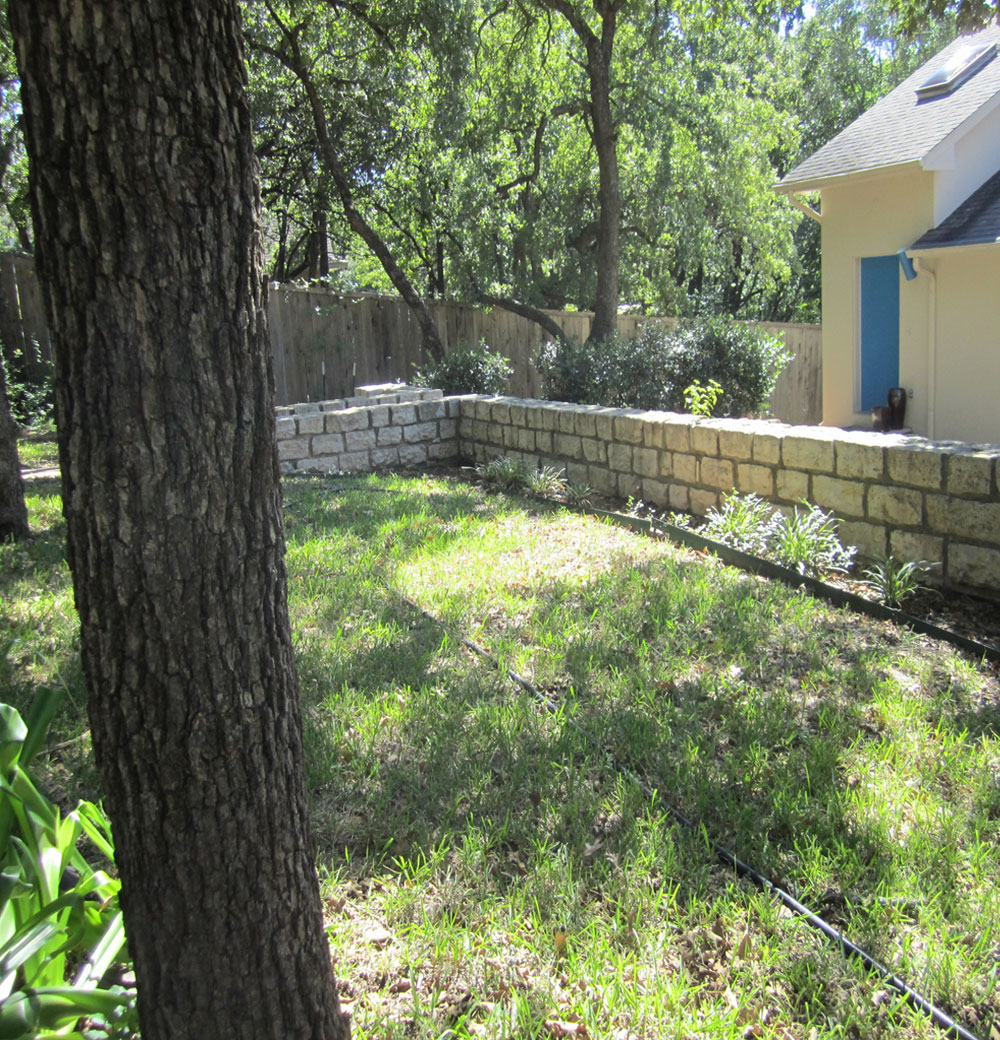 Armstrong Before Front Stone Wall